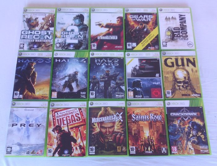 Lot of 15 Xbox 360 games (shooter/action)