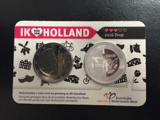 "The Netherlands – Holland coin card 2016 ""Drop"" (liquorice) with silver coin"