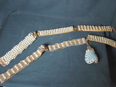 Lot with prestige / status belts – KUBA – D.R. of Congo