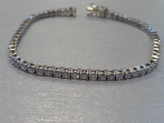 18k Gold Diamond Tennis Bracelet - 4.00 ct  J VS2