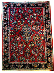 GORGEOUS AUTHENTIC VINTAGE HANDKNOTTED PERSIAN SAROUQ 143 x 103cm