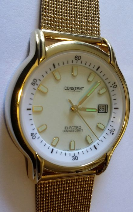 Constant tl324 electro luminescence men 39 s wrist watch 2014 catawiki for Luminescence watches