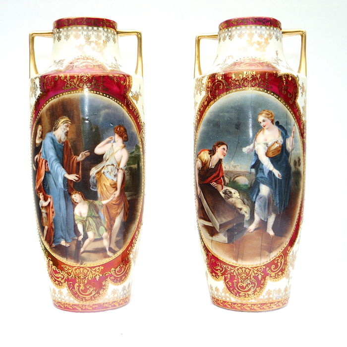 Set of porcelain vases - Royal Vienna style