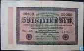 Reichsbanknote, 20.000 Mark 20.02.1923