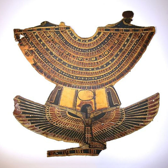 Ancient Egyptian Large Pectoral Plate With Goddess Nut 45 X 44 Cm