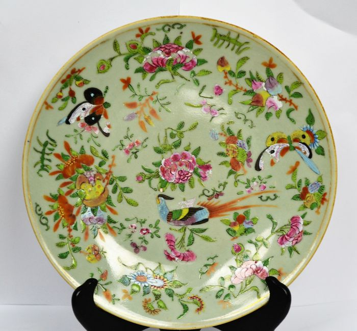 Antique 19thC Chinese Jiaqing Famille Rose Hand Enamelled ...