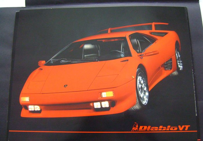 Orginele folder Lamborghini Diablo VT