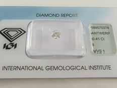 0.41 ct brilliant cut diamond I  VVS1