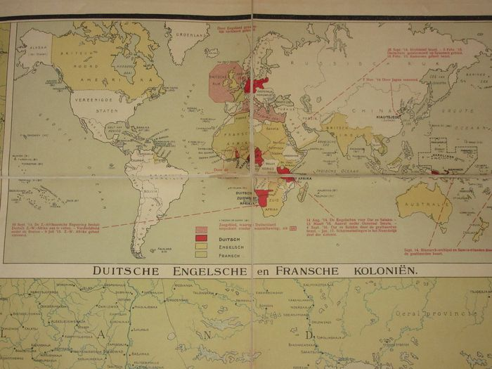 War map of Europe and West Asia. Indicating the main events between ...