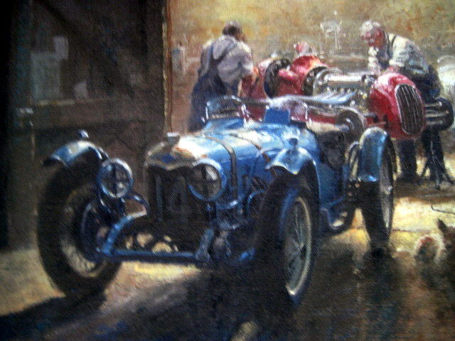 """Decorative object - """"Wee Small Hours"""" Alta Single Seater - Brooklands - 1935 (1 items)"""