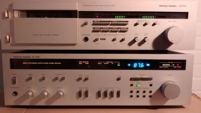 harman kardon receiver vintage. vintage harman kardon receiver and tape deck