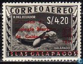 Stamps Galapagos with overprint