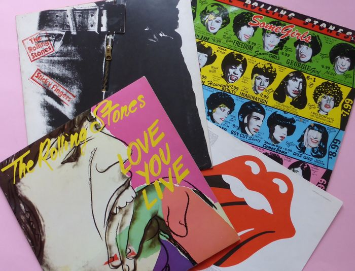 Three Rolling Stones albums (incl  1 double) with famous