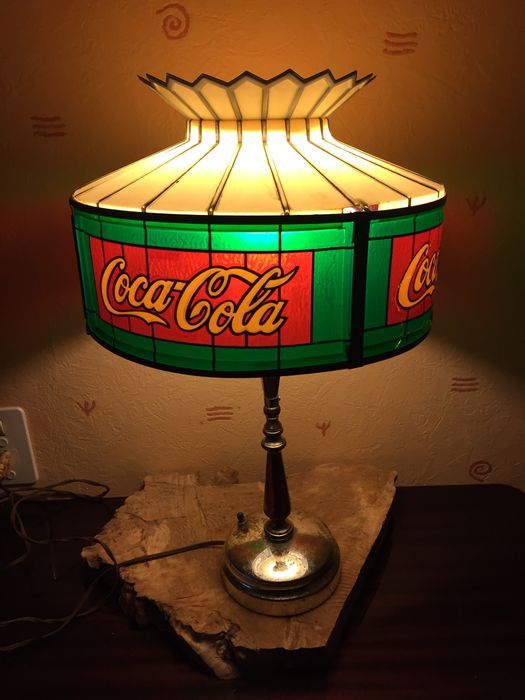 lampe coca cola ann e 1960 style tiffany s catawiki. Black Bedroom Furniture Sets. Home Design Ideas