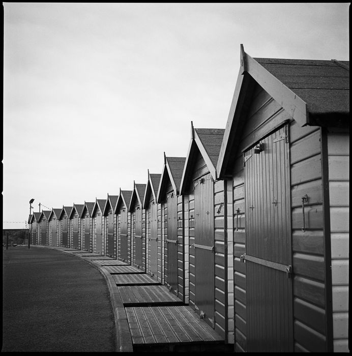 Paul Cooklin ( 1971 - ) - 'Beach Huts 1, Dawlish Warren, Devon, 2010'