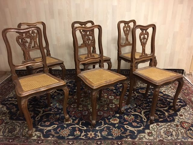 Complete Eetkamer Set.Set Of Six Dining Room Chairs Louis Xvi Style Appr Catawiki