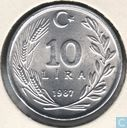 Turkey 10 lira 1987