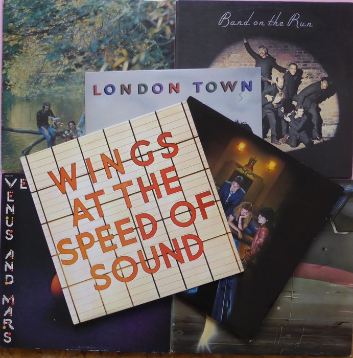 Set of 7 albums (total 9 records) by Paul McCartney & Wings