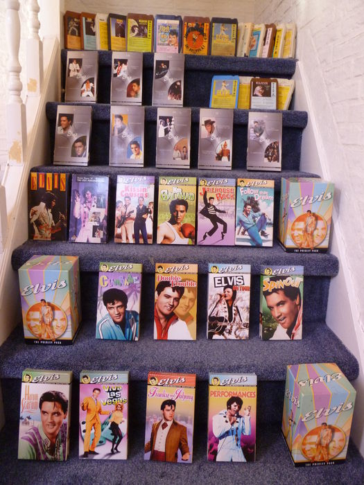 Huge lot of Elvis Presley VHS movies and Eight track tapes ...