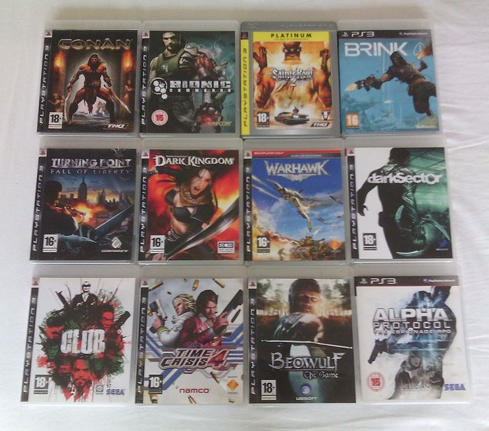 Shooter Games For Ps3 : Lot of playstation ps games action shooter