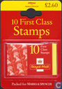 Marks & Spencer 10 First Class Timbres Bubble Packs