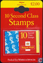 Marks & Spencer 10 Second Class Timbres Bubble Packs