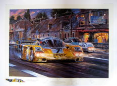 """""""Le Mans 1985"""" - Porsche 956 #7 - 15th 16th June 1985 - Signed by : Barilla/Ludwig/Joest/Winter"""
