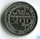 "Venezuela 25 centimos 2011 ""200th Anniversary of Independence"""