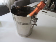 heavy silver plated wine champagne cooler, 20th century