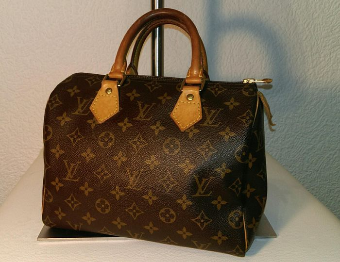 louis vuitton monogram tasche speedy 25 catawiki. Black Bedroom Furniture Sets. Home Design Ideas
