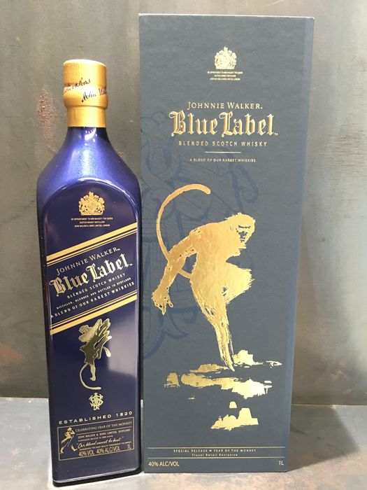Johnnie Walker Blue Label Year Of The Monkey Collection 1 Liter Chinese Ceramic Bottle X1