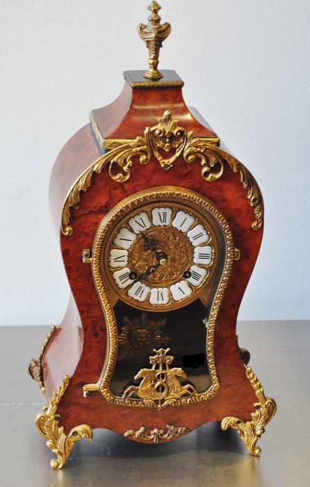 German Boulle Mantle Clock movement By Franz Hermle -- 1980