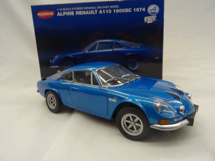 kyosho chelle 1 18 renault alpine a110 1600sc 1974 bleu catawiki. Black Bedroom Furniture Sets. Home Design Ideas