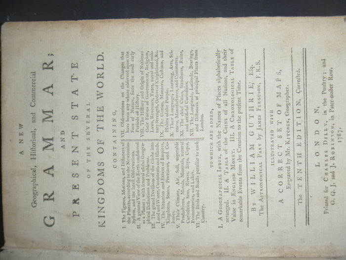 Gazetteer William Guthrie A New Geographical