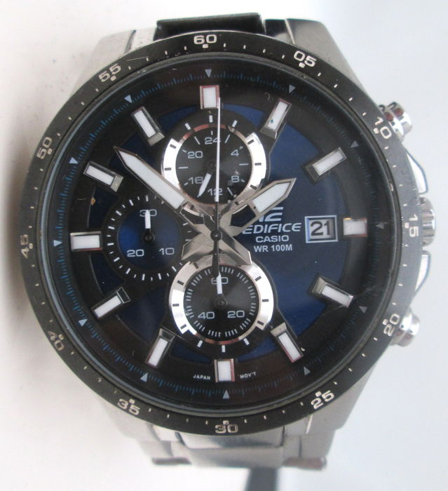 casio edifice chronograph montre homme catawiki. Black Bedroom Furniture Sets. Home Design Ideas