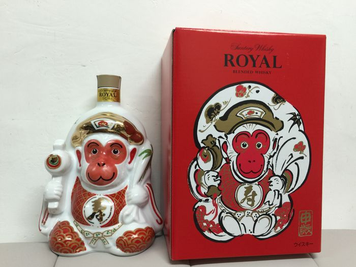Suntory Whisky - Royal Monkey yearly limited edition Special Bottle - 1 bottle 600ml with original box