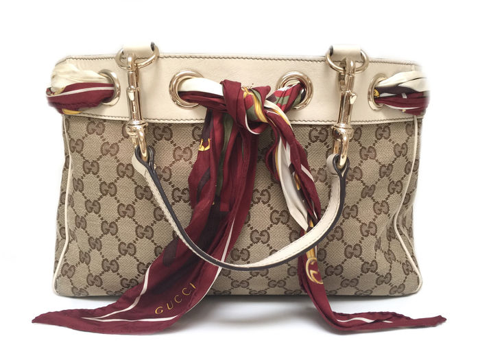 80fdd96b9ac269 Gucci - Positano bag with foulard - Catawiki
