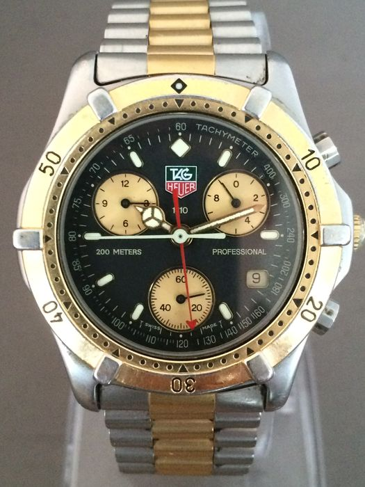 26a76a13e1f TAG HEUER 200 Meters 1/10 Professional Chronograph divers watch - approx.  80s