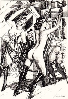 Flagellation; René-Michel Desergy - Diana Gantée - 1932
