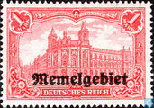 Post office, with overprint