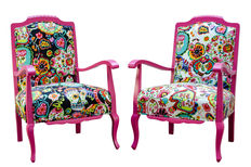 Pair of restored antique armchairs - first third of the 20th century