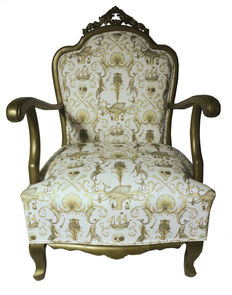 Bronze metallic armchair, Spain, first third of the 20th century.
