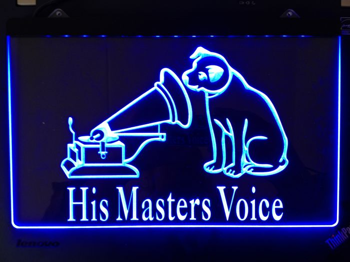 his masters voice nipper bar office neon light sign catawiki. Black Bedroom Furniture Sets. Home Design Ideas