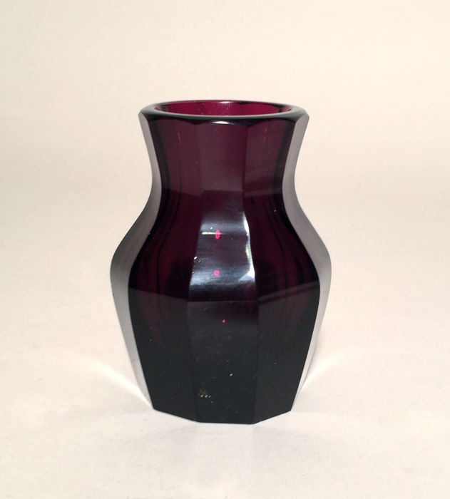 Moser Ruby Red Vase In The Style Of Hoffmann Catawiki