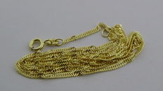 Gold Singapore necklace in 14 kt, 50 cm