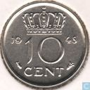 Pays Bas 10 cent 1948