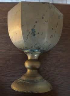 Beautiful copper chalice 17th-18th-19th century - Nice copper chalice (17th-18th-19th century) from a Kempen church