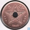 Congo free State 5 centimes 1888/7 (Transhipment)