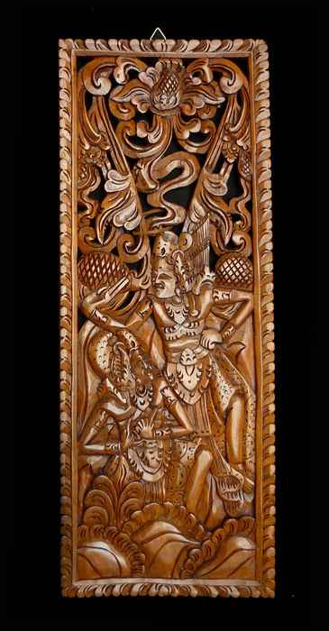 Wooden carved wall panel bali indonesia catawiki