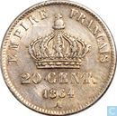 France 20 centimes 1864 (A)